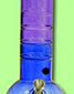 Acrylic Bubble Grip Bong - Purple Amp Blue - click to compare prices