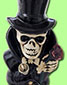 Ceramic Bong - Skull In Top Hat - click to compare prices